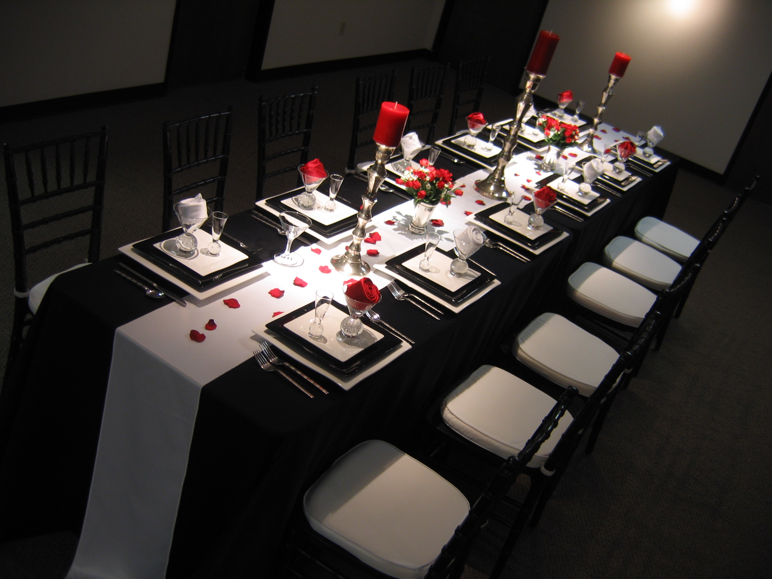 Table Decorations Black And White Theme Red Black And White Wedding Reference For Wedding Decoration
